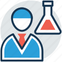 lab assistant, lab attendant, lab monitor, laboratory attendant, medical staff icon