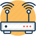 broadband internet, internet booster, internet connection, internet modem, internet router icon