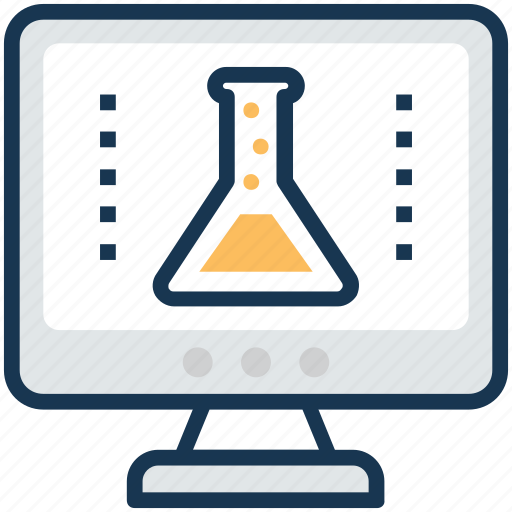 model science software, online laboratory, scientific illustration software, scientific lab software, virtual physical lab icon