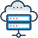 cloud computing, cloud data network, cloud databank, cloud database, online database icon
