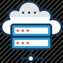 cloud computing, cloud data network, cloud databank, cloud database, online database icon