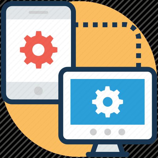 computer connection, database synchronize, internet management, server, synchronization icon