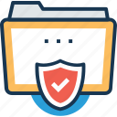 protected data, folder protection, confidential files, protected folder, confidential folder icon