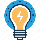 bulb, creativity, electric energy, idea, innovation icon