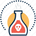 acid, danger, poison, poison bottle, toxin icon