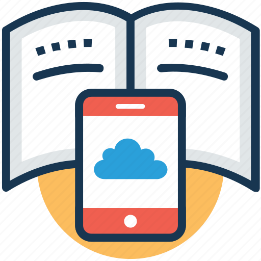 elearning, online book, online education, online study, smart book icon