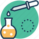 chemical test, medicine dropper, microbiology, sample dropper, scientific research icon