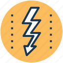 lightning bolt, reaction, severe weather, thunder sign, thunderbolt icon