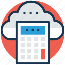 cloud calculator, cloud computation, cloud computing cost calculator, cloud cost calculator, cloud cost estimator icon