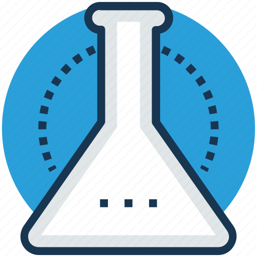 chemical flask, erlenmeyer flask, lab glassware, sample flask, test tube icon