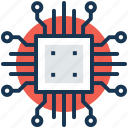 chip, circuit board, cpu, motherboard, processor icon