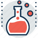 chemical flask, erlenmeyer flask, flask, lab glassware, test tube icon