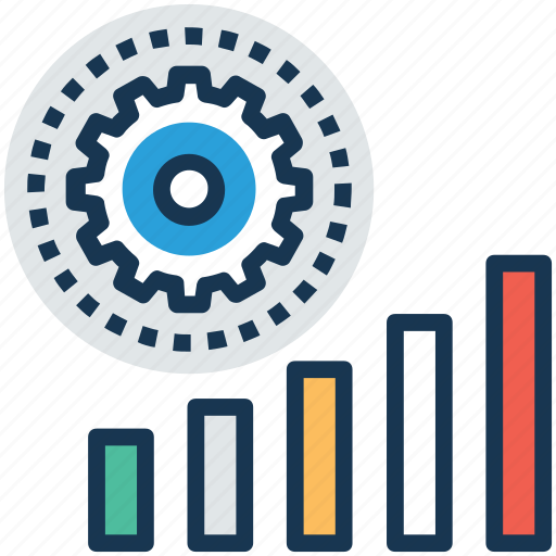 business graph, business improvement, forecasting model, marketing, predictive analysis icon