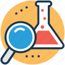 analysis, experiment, explore, procedure, research icon