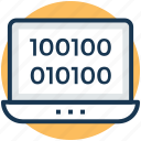 binary code, computer language, computer programming, computer sciences, software development icon