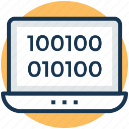 binary code, computer language, computer programming, computer sciences, software development icon