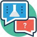common sense, mind game, question answering, science quiz, scientific method icon