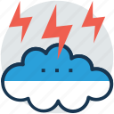cloud lightning, lightning, storm cloud, thunderstorm, thunderstorm cloud icon