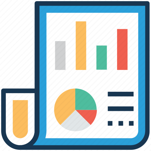 business analysis, business communication, sales report, statistics, stock report icon