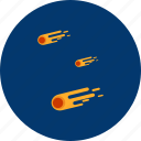 danger, fall, fire, meteor, object, science, universe icon