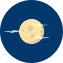 cloud, glow, moon, object, planet, science, universe icon