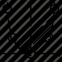 curve, education, mathematics, maths, science icon