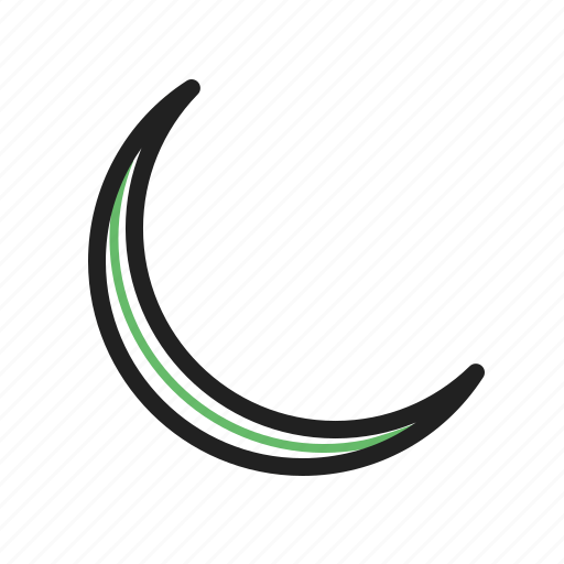 evening, landscape, moon, new, night, sky, space icon