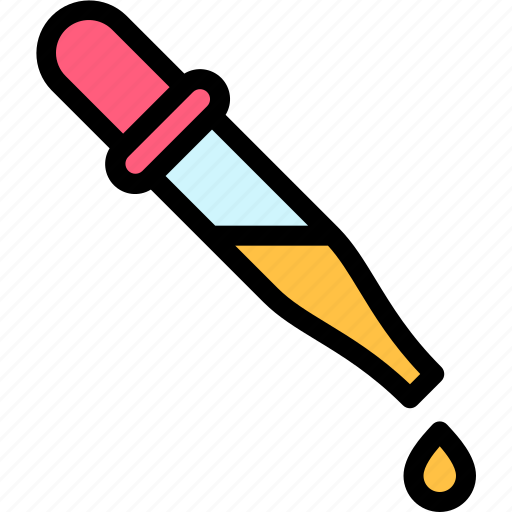 education, knowledge, logic, pipette, science icon