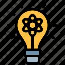 bulb, education, knowledge, light, logic, science icon