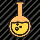 bottle, flask, lab, round icon