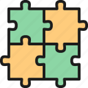 business, concept, integrity, jigsaw, puzzle, science, square icon