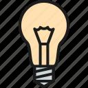 bulb, idea, lamp, light, research, science, solution