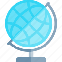 education, globe, knowledge, logic, science icon