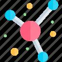 education, knowledge, logic, molecule, science icon