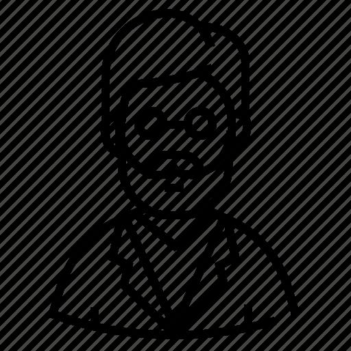 man, researcher, scientist, specialist icon