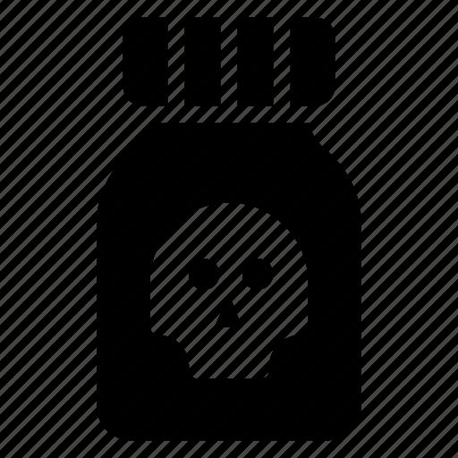 bacteria, germs, jar, virus icon