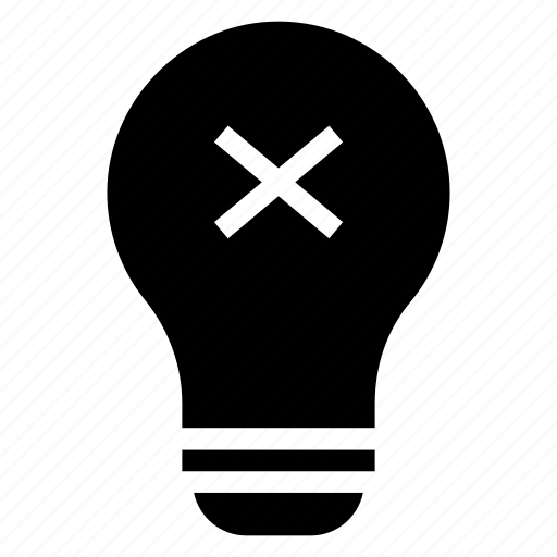 bulb, delete, lamp, light icon