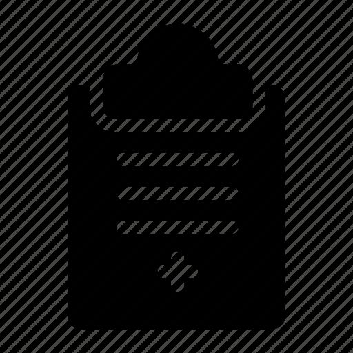 clipboard, document, report, survey icon