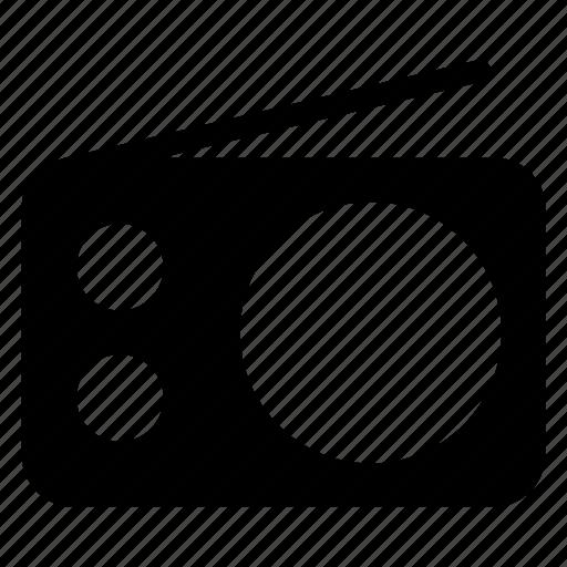 broadcast, music, radio, tape icon