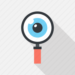 explore, eye, glass, magnifying, research, search, view icon