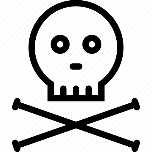 bones, danger, death, poison, science, skull icon