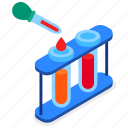 test, tubes, laboratory, pipette icon