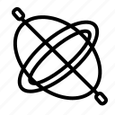 background, balance, concept, gyroscope, physics icon