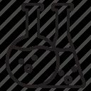 bottom, flask, lab, round, v icon