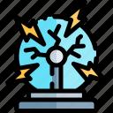 ball, education, knowledge, logic, plasma, science icon