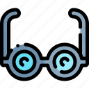 education, glasses, knowledge, logic, science icon