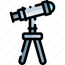 education, knowledge, logic, science, telescope icon