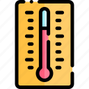 education, knowledge, logic, science, thermometer icon