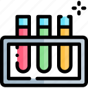 education, knowledge, logic, science, test, tubes icon