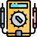 education, knowledge, logic, multimeter, science icon